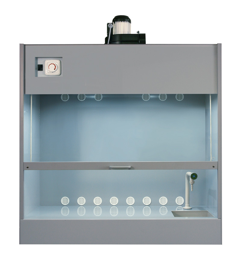 Hood cabinet with rinsing basin